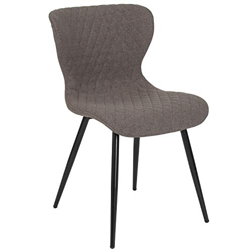 Bristol Contemporary Upholstered Chair   Grey Fabric