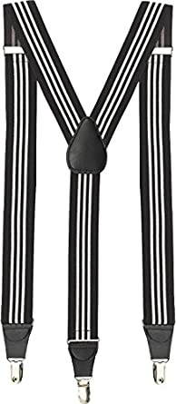 1930s Men's Costumes: Gangster, Clyde Barrow, Mummy, Dracula, Frankenstein  Joseph Abboud Boxed Mens Suspenders                                                           $11.99 AT vintagedancer.com
