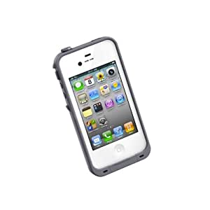 LifeProof FRE iPhone 4/4s Waterproof Case - Retail Packaging - WHITE/GREY (Discontinued by Manufacturer)
