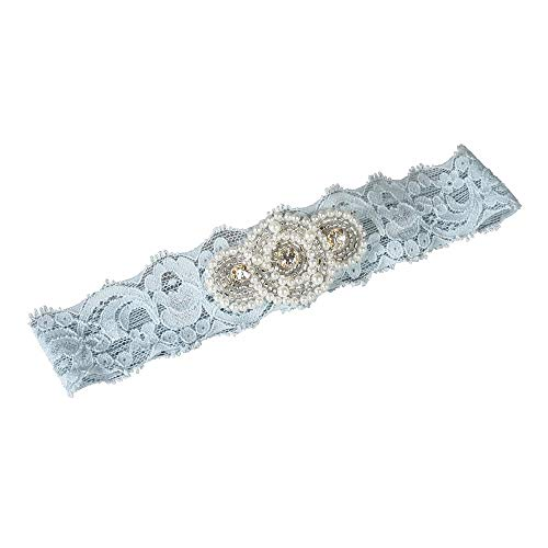 (Ivy Lane Design Garter, Small, Piper Lace, Blue)