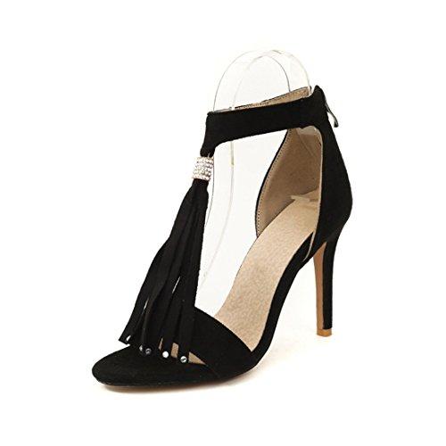 black sexy sandali le sandali alti d'donne 33 tacchi sandali sono donne e dei XwggqxPI