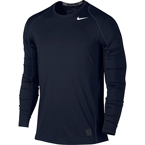 Nike Mens Pro Cool Long Sleeve Training Shirt Obsidian/Dark Grey.White 703100-451 Size Small