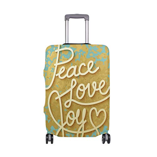 My Daily Peace Love Joy Luggage Cover Fits 24-26 Inch Suitcase Spandex Travel Protector M by My Daily