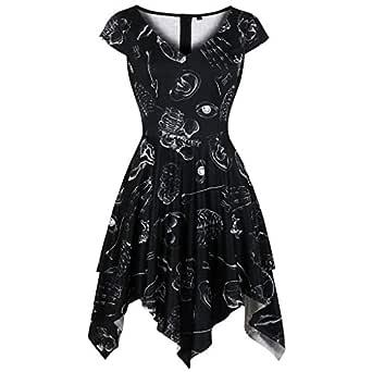 CLOOM Falda para Mujer Irregular Princesas Elegante Mini Vestidos ...