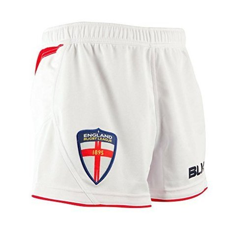 blk England RFL On Field Home Junior Shorts