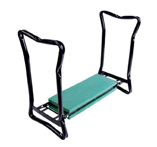 Outsunny Folding Garden Kneeler/Kneeling Bench Chair, Green by Outsunny