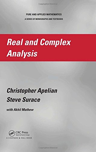 Real and Complex Analysis (Chapman & Hall/CRC Pure and Applied Mathematics)
