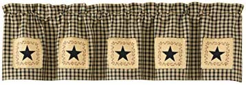 Park Designs Star Patch Primitive Lined Valance 60 x 14