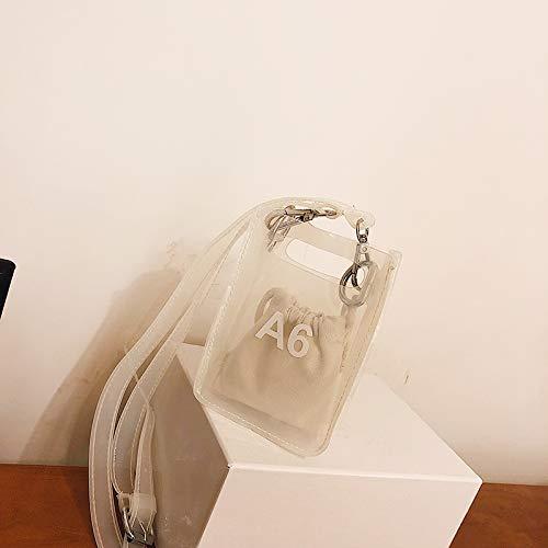 Sac d'été WSLMHH Femme gelée Bag Sauvage Transparente Mini Petit Trompette Messenger marée Sac blanche à bandoulière Fille de Sac qY4xHwq