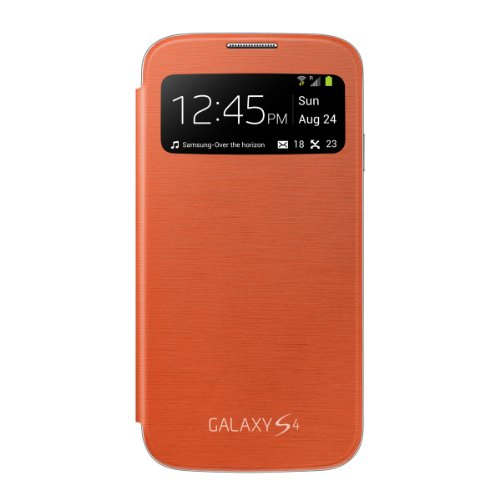 Samsung Galaxy S4 S-View Flip Cover Folio Case (Orange) for sale  Delivered anywhere in Canada