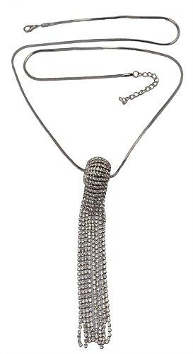 Idealway Rhinestone Crystal Pendant Necklace