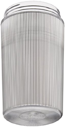 - RAB Lighting GL200PG 200 Series Vaporproof Flat Bottom Threaded Prismatic Glass Permaglobe, 100W Power, Clear