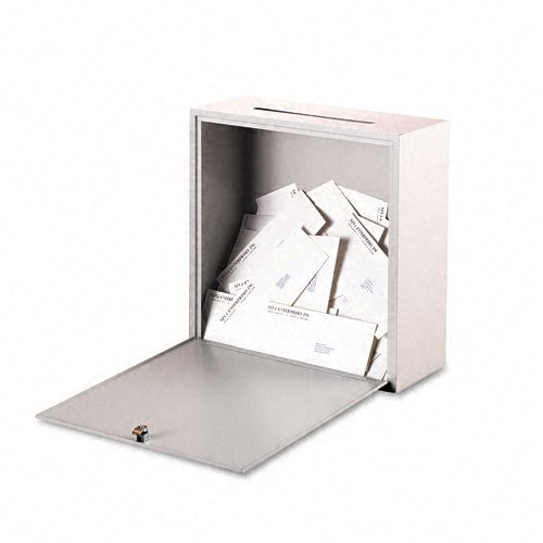 (Buddy Products : Wall-Mountable Interoffice Mail Collection Box, 18w x 7d x 18h, Platinum -:- Sold as 2 Packs of - 1 - / - Total of 2 Each)