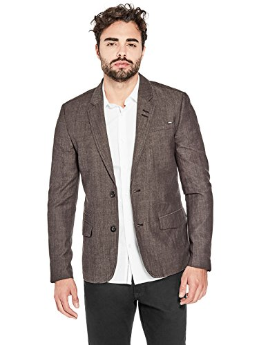 Polished Cotton Blazer (GUESS Factory Men's Lawrence Textured Blazer)