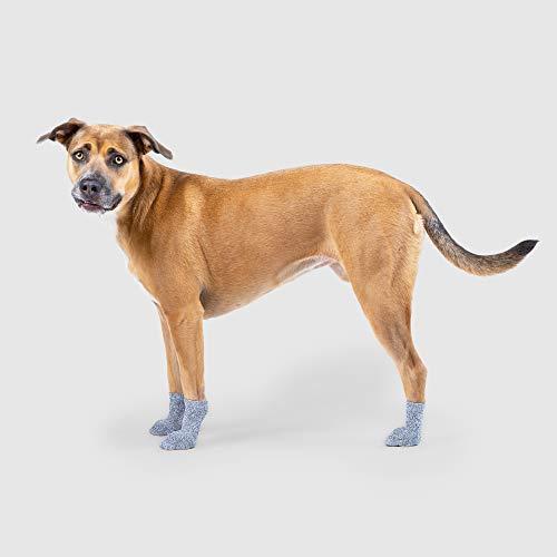 Canada Pooch | Basic Dog Socks | Knit and Non-Slip Dog Socks (XL, Grey) (Vest Canada Pooch)
