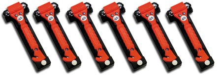 Lifehammer Original Emergency Hammer (Life Hammer Original Emergency Hammer, Orange, 6-Pack)