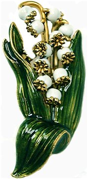Lily-of-the-valley Basket Brooch (Lily Basket)