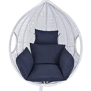 Cojín para silla colgante de balancín Swing individual cojines tumbona acolchado cojín sofá sofá jardín interior exterior salón patio terraza (azul marino)