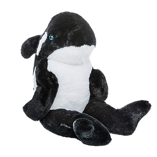 Stuffems Toy Shop Record Your Own Plush 16 inch Black Orca Whale - Ready to Love in A Few Easy Steps