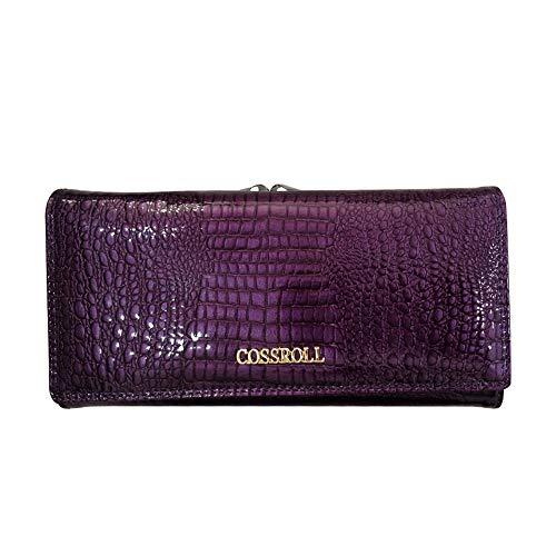 Cuir Luxe Embrayage Texture véritable Color élégant Femme Main Portefeuille à rabbit Lovely en Sac Purple Crocodile Gray fHYAAq