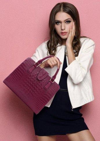 épaule bandoulière femme Sac porté pour Sac main fille Cuir OHmais Sac en rose à xYIZqPS4