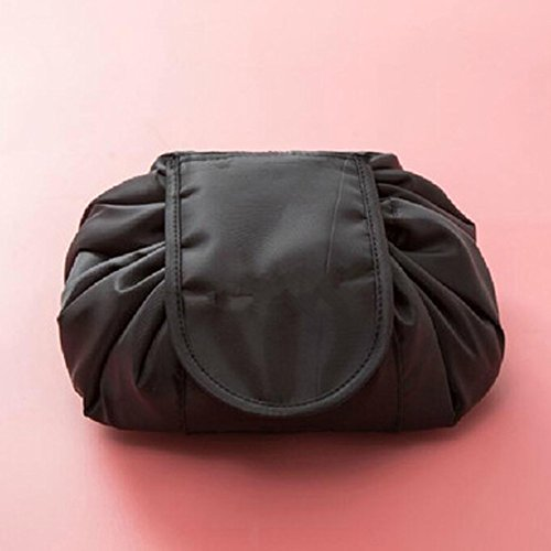 Nyalex - {Ship From US} Makeup Box Organizer Storage Portable Drawstring Travel Cosmetic Multifunction Jewelery Containers Makeup Bath Organizer [Black ] by Nyalex