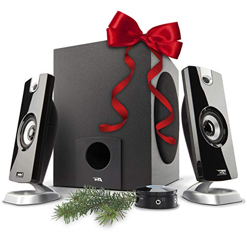 Cyber Acoustics 2.1 Subwoofer Speaker System with 18W of Power – Great for Music, Movies, Gaming, and Multimedia Computer Laptops (CA-3090) (System Woofer)