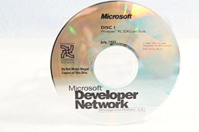 Microsoft Developer Network Windows 95 SDKs and Tools-Disc #1 Part Number: 99121-Date: July 1997-PC Computer Software Program-Single Replacement Disc