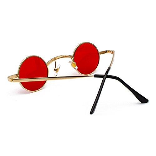 Unisexe Et Punk Rondes Mode UV Protection Pour Soleil Cadre Lunettes De Nouvelle Classique Hommes Style Femmes Rétro Lunettes C5 Petit 400 qwEHTfS