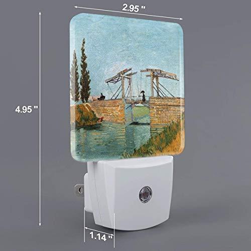 - HOKICGR Bridge at Arles Print Plug-in Lamp with Dusk to Dawn Sensor Auto On/Off Night Light,Nightlight