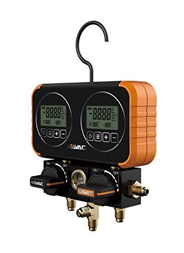 Dual Heads 9R01 No Hoses NAVAC NRM2D0102 Digital Manifold Gauge