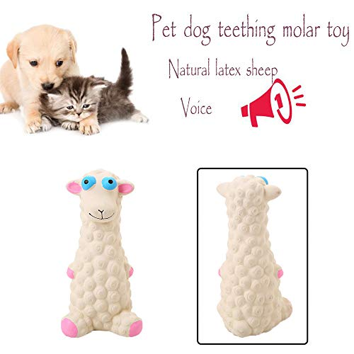 Pillow Throw Training (Binmer Chew Toy,Natural Latex Sheep Molar Cleaning Teeth Sounding Toy Dog Supplies Training Toy)