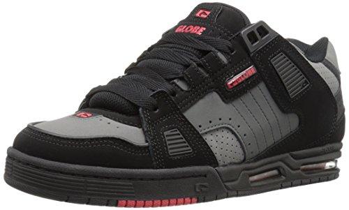 Der Säbel-Skate-Schuh der Kugel-Männer Schwarz / Schatten / Rot