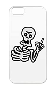 Skeleton Skelet Gravedigger Hand Zombies Bloody Holidays Occasions Scared Moon Grave Undead Skull Scary Grimreaper Halloween Dead Blood Scare Graveyard Grim Reaper Zombie Monster Silver Protective Case For Iphone 5c Skeleton