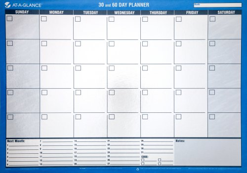 AT-A-GLANCE 30 and 60-Day Undated Horizontal Erasable Wall Planner - 24 x 17 Inches (PM263B-28)