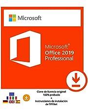 MS Office 2019 Professional Plus 32 Bits y 64 Bits - Clave de Licencia Original por Correo Postal y Electrónico + Instrucciones de TPFNet® - Envío Máximo 60min