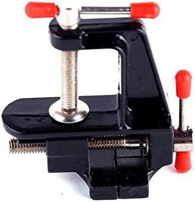 アルミ合金コンパクトミニテーブルVise35mmベンチバイススモールフラットプライヤーテーブルバイスミニDiy家庭用スモールバイス-グレーブラック