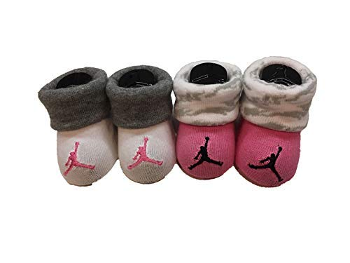 Nike Infant Baby Futura Booties (2 Pair) (Pink(LJ0121-A3Z)/White, 0-6 Months) from Nike