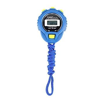 Vinkent KD-6128 Cronógrafo Temporizador Digital Cronómetro Contador Deportivo Reloj cuentakilómetros Cronómetro LCD Digital a Prueba de Agua Contador de ...