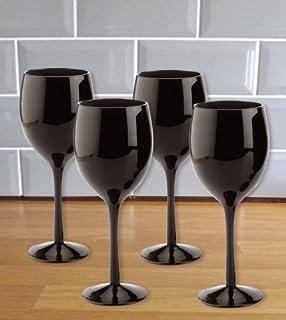 verre a pied noir opaque