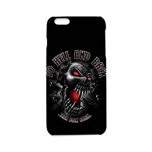 Custom to Hell and Back Skull Logo Cover Case protector for iPhone 6S 3d Case