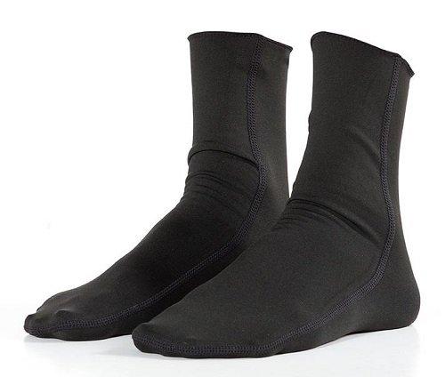Hyperflex Wetsuits Men's Polyolefin Sock, Black,One Size - Surfing, Windsurfing & - Wetsuit Triatlon