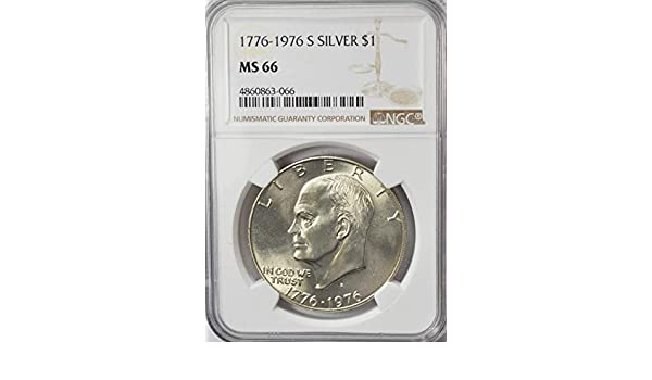 NGC Gem Uncirculated 1776-1976-S US Eisenhower Silver Dollar $1