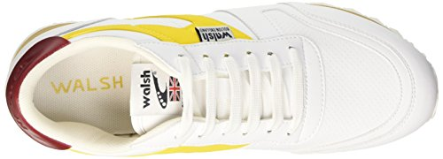 Walsh Vs-A, Scarpe da Ginnastica Uomo Multicolore (White/Maize/Ruby Wine)