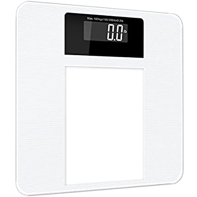 FRK Digital Bathroom Scale   Slim Design   High Accuracy Easy Read out  Backlit LCD   Smart Step on Technology   400lb Capacity   Battery included    2 Years. FRK Digital Bathroom Scale   Slim Design   High Accuracy Easy Read