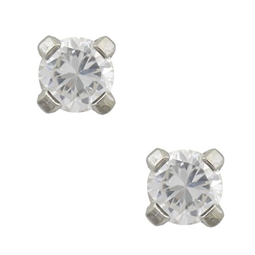 Studex Tiny Tips CZ Cubic Zirconia 3mm Claw Setting Stainless Steel Childrens Hypo-allergenic Stud Earrings