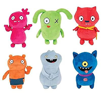 UglyDolls Plush Stuffed Moxy OX Wage BABO Lucky Bat Ugly Dog Set Ugly Dolls: Toys & Games