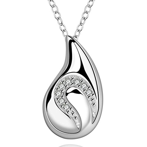 AmDxD Jewelry Gold Plated Women Pendant Necklace White Silver Figure,Gift for (Lyric Oil Lamp)
