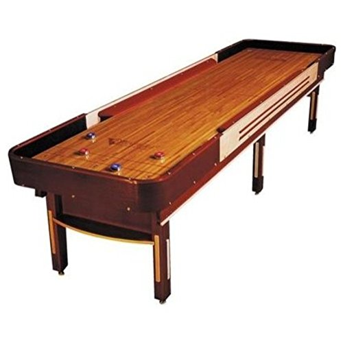Grand Deluxe Cushion Shuffleboard Table - Gaming Board with Playing Accessories - Gameroom Furniture - Wood Game Table - 12