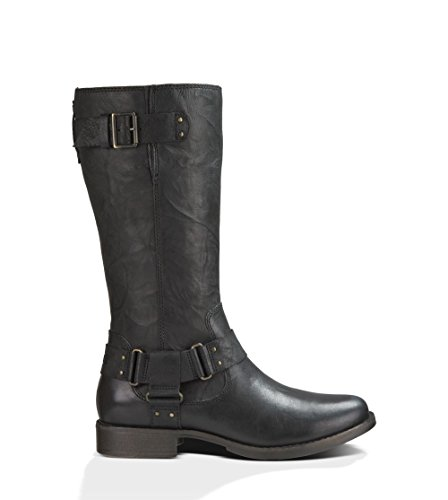 UGG Women's Damien Black Leather Boot 11 B (M), used for sale  Delivered anywhere in USA